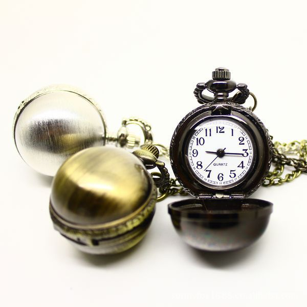 Hot retro ball gun shade alloy creative personality fashion necklace quartz pocket watch XH116