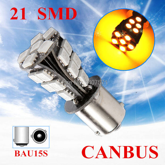 11156 BAU15S PY21W 21 SMD Amber Yellow CANBUS OBC Error Signal Car LED Light Bulb External Lights Source - GuangZhou YouCheng Trade Co., Ltd. store