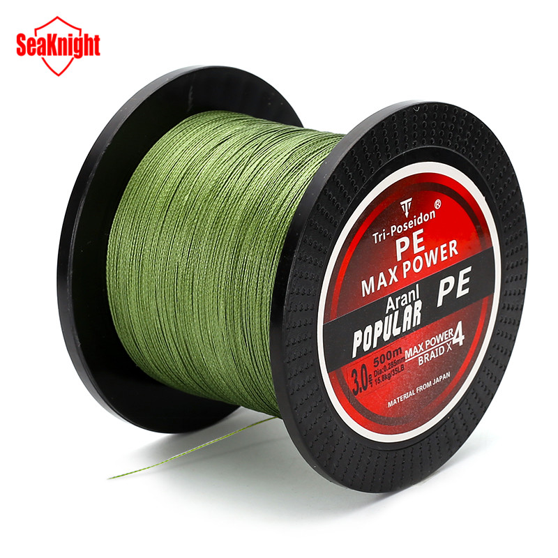 500M SeaKnight Brand Tri-Poseidon Series Super Strong Japan Multifilament PE Braided Fishing Line 8 10 20 30 40 60LB(China (Mainland))