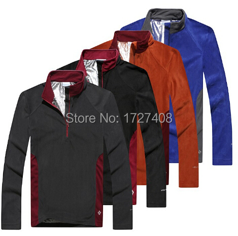 OMNI-HEAT Thermal Heat Reflective fleece jacket men casual sport men's outdoor hiking camping sport clothes men free shipping(China (Mainland))