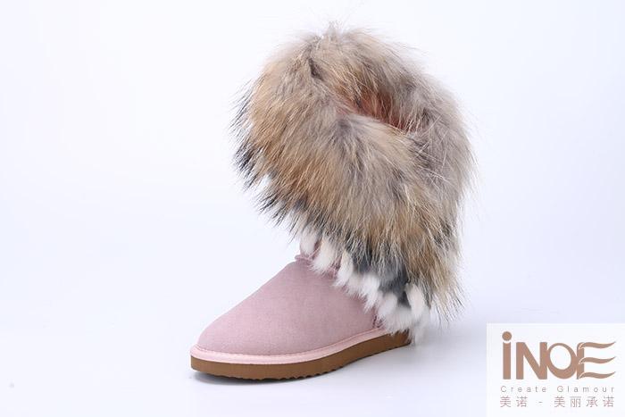 botas ugg con pelo de zorro