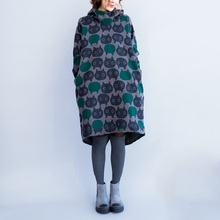 Buy 2016 New Fashion Autumn Winter Women Casual Mini Dress Printed Loose Long Sleeve Hooded Tunic Korean Style Plus Size Warm Dress for $28.32 in AliExpress store