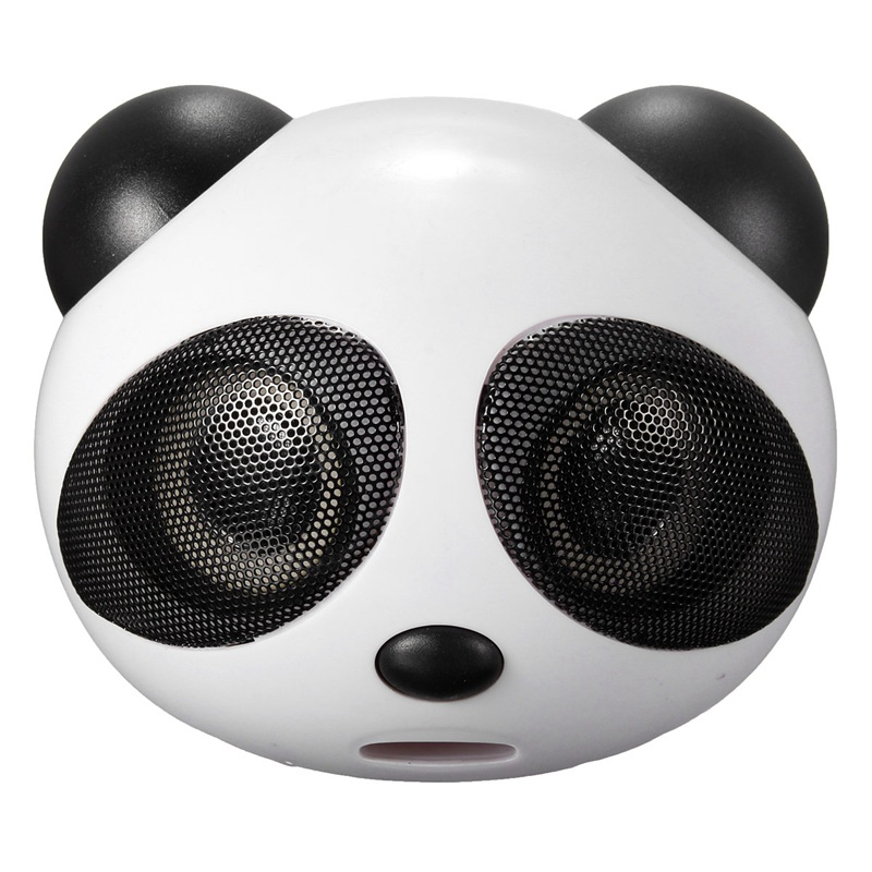 Mini Cartoon Panda Speaker 3.5mm Wired Support USB2.0 Bass Stereo Speaker Subwoofer With Mic For Desktop Laptop Mobile MP3 MP4(China (Mainland))