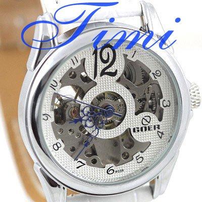 Womens Wrist Watch White Skeleton Automatic Grace Gift<br><br>Aliexpress