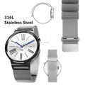 For Apple Huawei Watch 18mm Magnetic Milanese Loop Stainless Steel Magnet Closure Lock Bracelet Strap Or