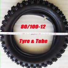 """TDR Motorcycle Parts Wheels 80/100-12 3.00-12"""" Rear Knobby Tyre Tire + Tube PIT PRO Trail Dirt Bike Cycling Style Off-road HHY(China (Mainland))"""