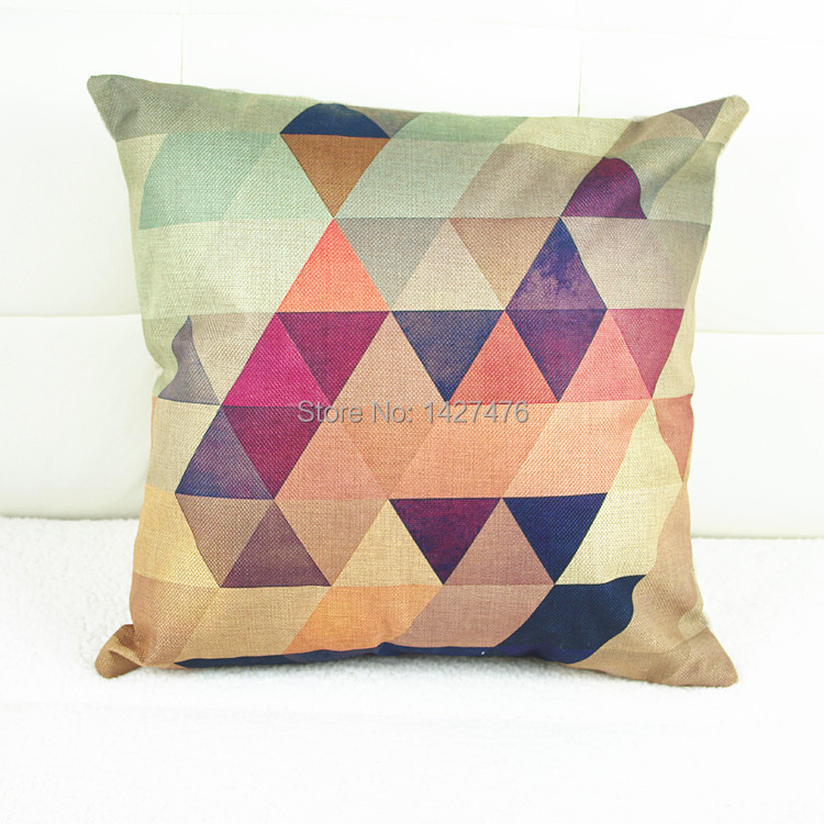 creative color geometric pattern Pillowcase office supplies household items pillow case cover home decorative %% - Nanjing Rui Xin goods store