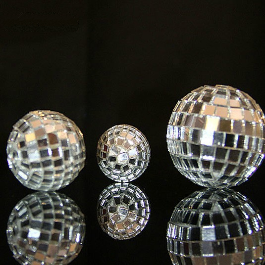 Fashionn Glass Silver Disco Ball Christmas supplies tree glass ball hanging DIY decoration beautiful gift 3 size - Linda's lovely items store