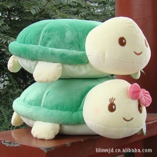 B014 free shipping lovely soft high quality green turtle plush toy doll