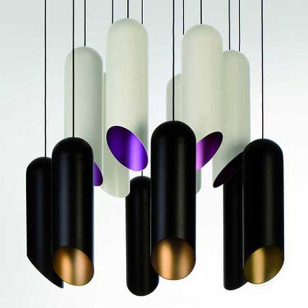 Modern fashion cylinder tube aluminun pendant light with E27 base(China (Mainland))