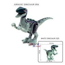 1 pcs Mundo Jurássico Tiranossauro Rex Rex Dinosaur Carnotaurus Cruzar Animais Blocos de Construção Figuras brinquedos para as crianças(China)