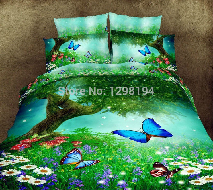 Home Textiles 3D bedding sets King size 4Pcs of duvet cover bed sheet pillowcase bedding sets edredones colcha de cama(China (Mainland))