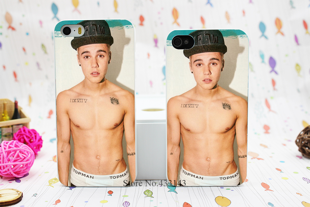 Unique Canadian Popular Singer Justin Bieber Style Hard White Skin Case Cover for iPhone 5 5s 5g(China (Mainland))