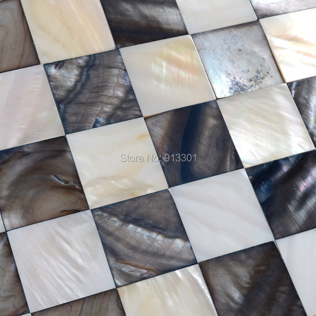 mother of pearl tiles sea shell mosaic tile kitchen backsplash cheap RanBei20 shower wall stickers seashell bathroom 3d floors