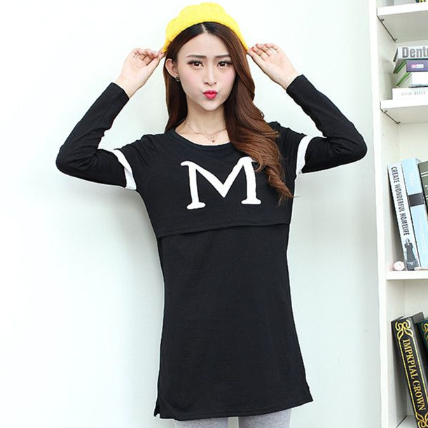 4Color Fashion Maternity Clothes Maternity Tops Breastfeeding shirt Nursing Clothing Tops for Pregnant Women Casual t shirt(China (Mainland))