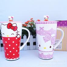 [Chang ceramics factory direct cartoon Hellokitty drink beer mug large capacity