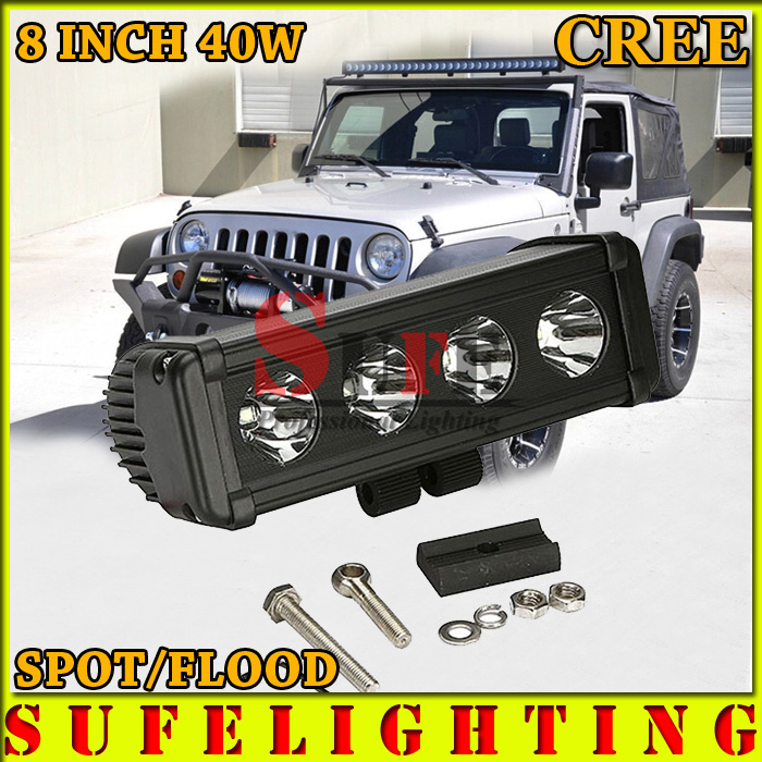 Free EMS Ship 40W 3600LM CREE LED Offroad Light Bar Car Leds SUV ATV TRUCK Off-Road Driving LED cree lighting LED Spot Beam<br><br>Aliexpress