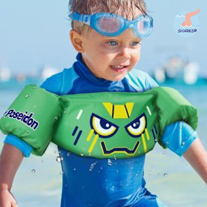 2015 High Quality Adjustable Child Baby Cartoon Swimming Arm Ring Inflatable Safety Life Vest Jacket Armlet Kids Protect(China (Mainland))