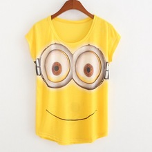2016 Summer Style Hot Sale Casual T Shirt Women Print Minions Fashion T-shirts Short Sleeve Tops Loose Casual Tees Clothing
