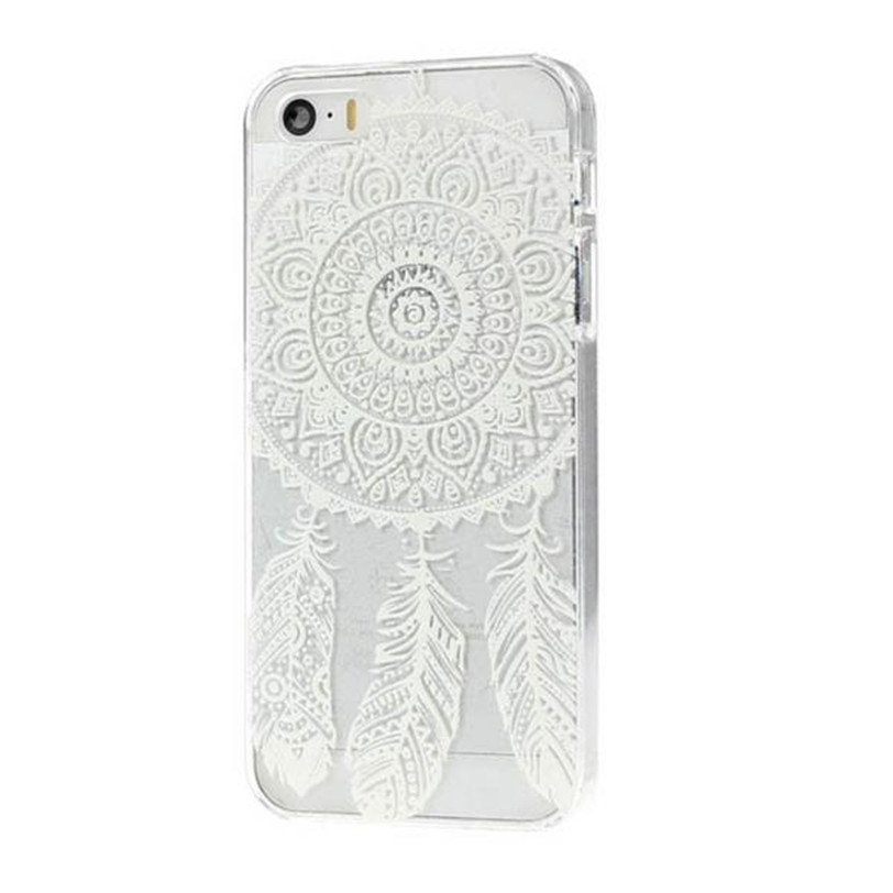 free shipping Dream Catcher Pattern Transparent Hard Case Cover for iPhone 5 5G 5S SE lll5 wholesale(China (Mainland))