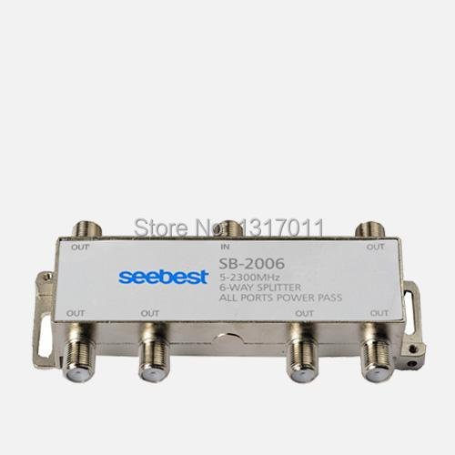 Seebest SB-2006 6 way Satellite Splitter/SMATV distributor 5-2400MHz 6 outputs(China (Mainland))