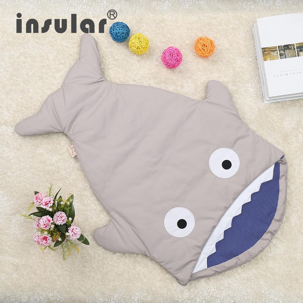 Hot Sale Cute Cartoon Shark Baby Sleep Bag Sping Baby Sleep Sack Warm Baby Blanket Warm Swaddle(China (Mainland))