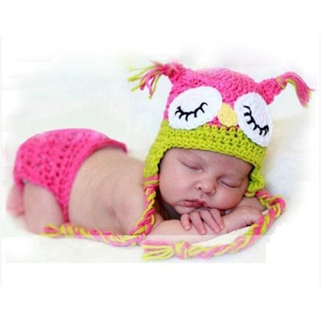 Crochet Baby Girl Owl Hat Pattern : Crochet Owl Hat Toddler New Born Props for Photography ...