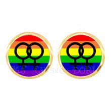 Farfalla Arcobaleno Orecchini Per LGBT Cupola di Vetro Gay E Lesbiche Orgoglio Gioielli Parade Dimostrazione Orecchini con perno Per Le Donne Degli Uomini(China)