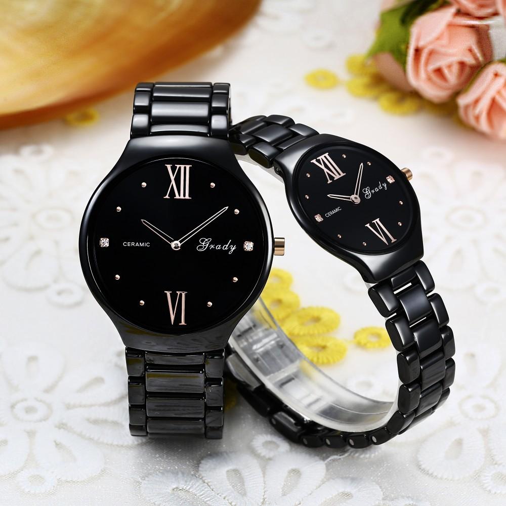 Мода Марка женщины керамические часы высокого качества женщины платье смотреть леди кварцевые часы водонепроницаемые наручные часы бесплатная доставка