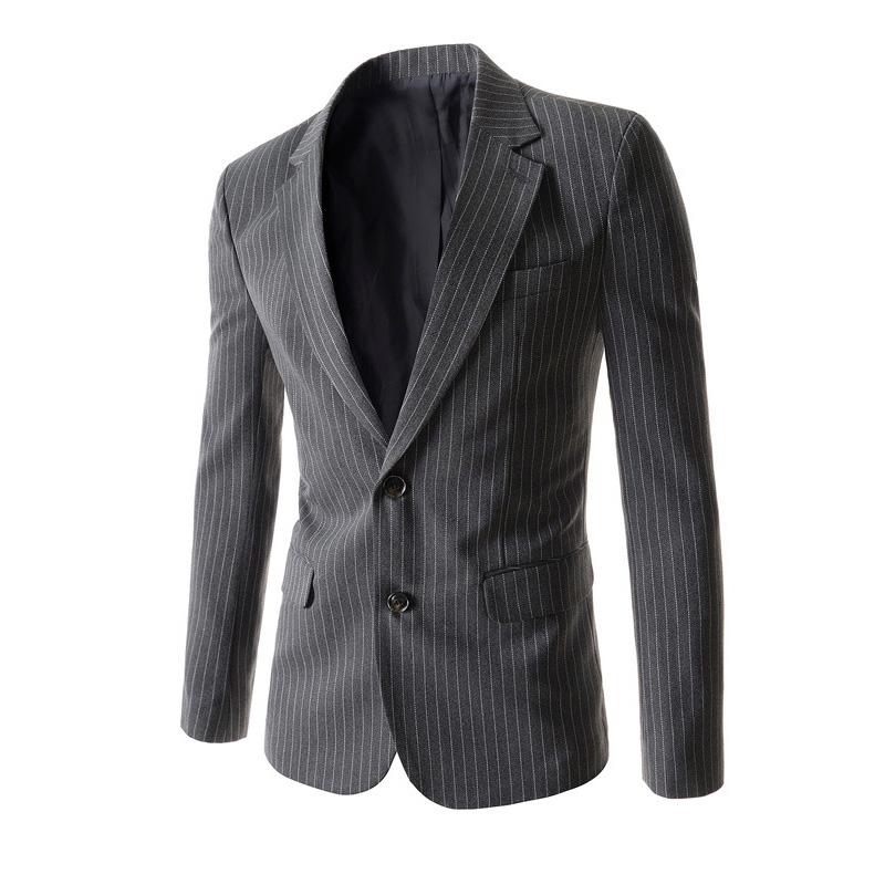 Внешней торговли мужской двойной кнопкой полосатый пиджак