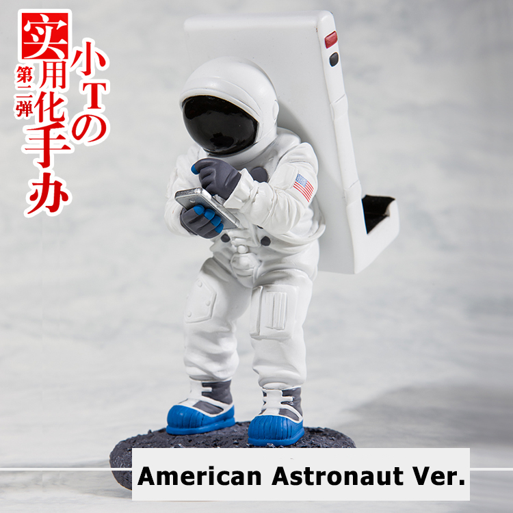 Free Shipping iPhone Holder Limited Ver. Action Figure Doll 14CM Astronaut Ver. PVC ACGN figure Garage Kit Toys Brinquedos Anime(China (Mainland))