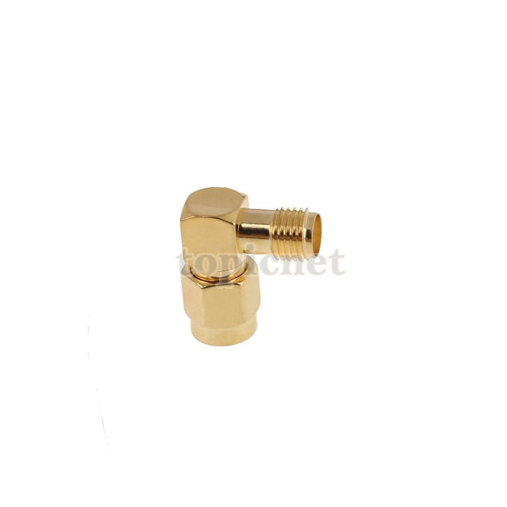 ASLT SMA Male to SMA Female Jack Plug Right Angle RF Adapter Connector