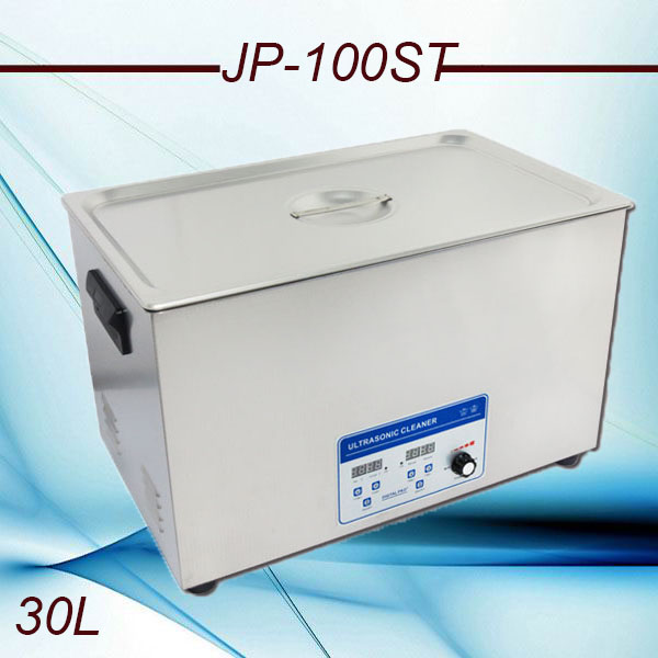 Promotion globe 110V/220V JP-100ST 240-600W Ultrasonic Cleaner 30L industrial Equipment Stainless Steel Cleaning Machine(China (Mainland))