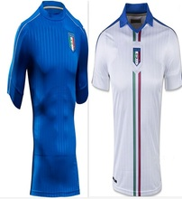 2016 italy brand home blue away white best thailand quality   soccer jersey ITALY football uniforms(China (Mainland))