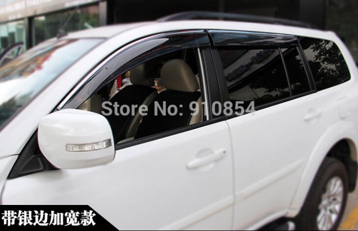 Window Visor Vent Sun Rain Guard for Mitsubishi Pajero Sport 2011-2014<br><br>Aliexpress