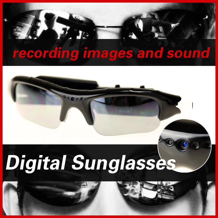 New HD Cam Eyewear Digital Video Recorder Glass Mini Camcorder DV DVR Camera 1280*960 Video spy Sunglasses hidden cam