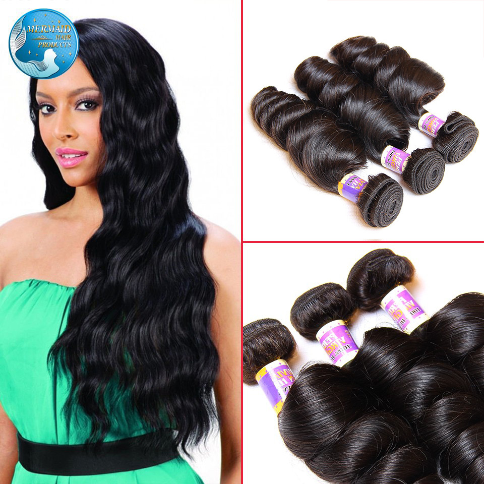 Гаджет  unprocessed peruvian loose wave hair extension nature black #1b top grade 6a peruvian virgin hair loose wave 3 bundles None Волосы и аксессуары