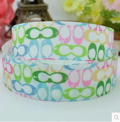 """New 22mm luxury fashion ribbon diy hademade material single face printed grosgrain ribbon 50 yards gift wrap ribbon 7/8""""(China (Mainland))"""