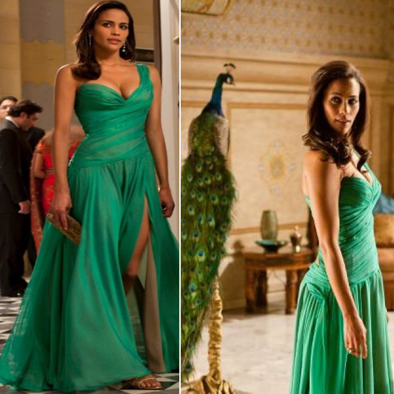 Paula patton mission impossible green dress