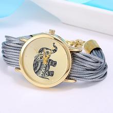 new Relojes Mujer Jewelry Fashion Women Dress Brand Elephant Design Bracelet Watch Montre Femme Quartz Watch Relogio Feminino