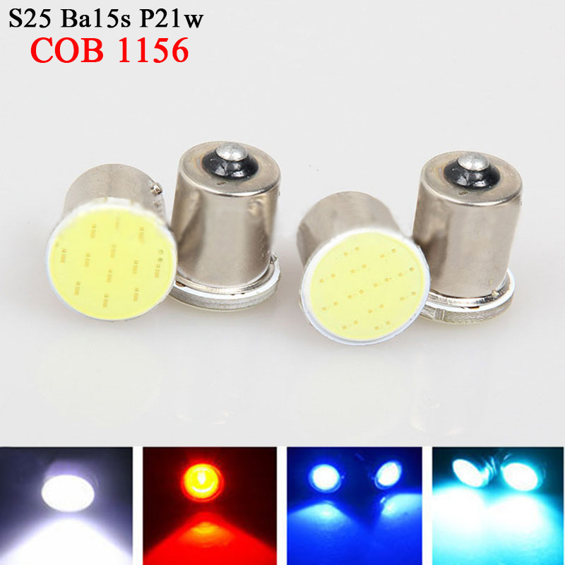 4x Free Shipping Super White cob p21w led 12SMD 1156 ba15s 12v bulb RV Trailer Truck car styling Light parking Auto led Car lamp(China (Mainland))