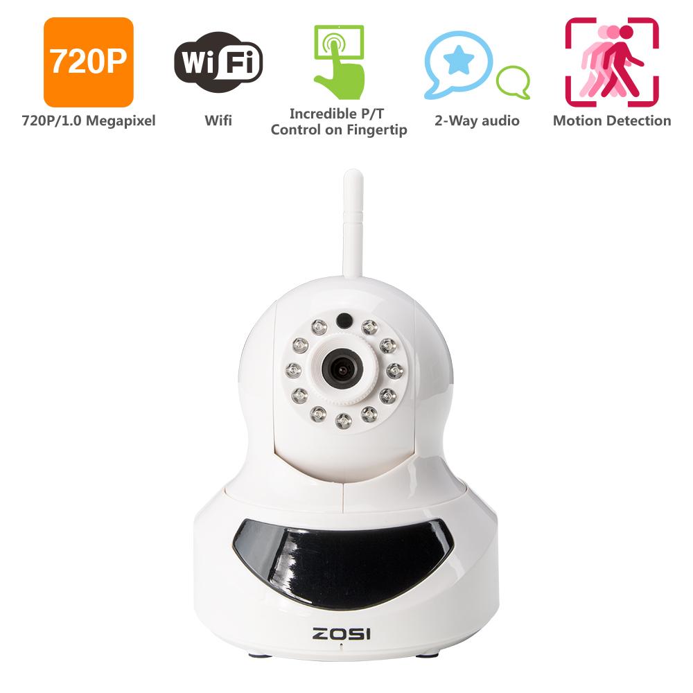 ZOSI HD Onvif 720P IP Camera 1.0MP Megapixel Wireless Wifi H.264 P2P Plug and Play Network CCTV Camera 10M IR Vision Pan&Tilt(China (Mainland))