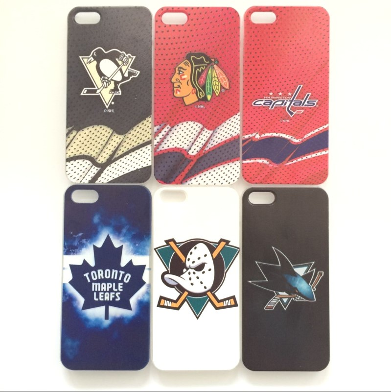 Ice hockey team Blackhawks Ducks Penguins Capitals Vancouver Maple Leafs case Coque cover for iPhone 5s 5 SE phone cases fundas(China (Mainland))