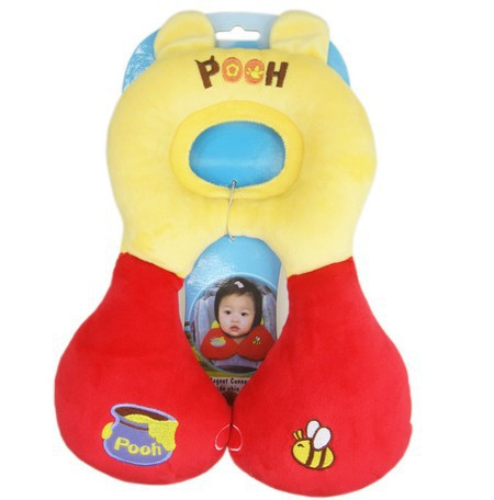 Total Support Headrest Baby Infant Car Travel Sleeping Frog Lion Pillow Head Neck Cartoon Seat Covers For Child(China (Mainland))
