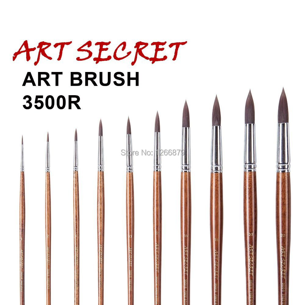 2014NEW free style oil ,watercolor&amp;acrylic brushes-3500R series<br><br>Aliexpress