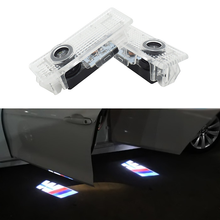 2x LED Door Warning Light With M Logo Projector For BMW E60 E90 F10 F15 F16 F30 M3 M5 F01 F02 GT x1 x3 x5 x6(China (Mainland))