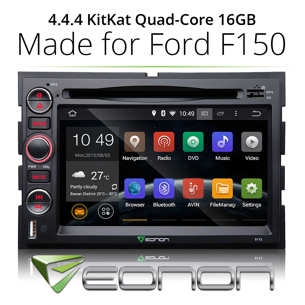 Hot sale Android 4.4 Car DVD Player GPS For Ford F-150 New Bluetooth Navigation(China (Mainland))
