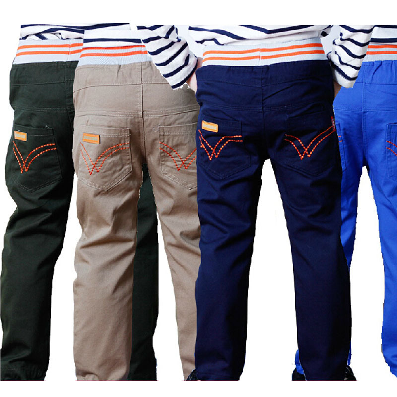 Kids Hot Sale Boys Pants 2015 New Spring Summer winter Boy Child 100% Cotton Long Trousers Children's Clothing Casual Pants(China (Mainland))