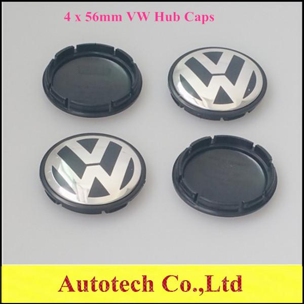AAA Quality 4 x 56mm VW Wheel Center Hub Cap Cover Sets Fits For Volkswagen BORA JETTA PASSAT LOGO 1J0 601 171(China (Mainland))