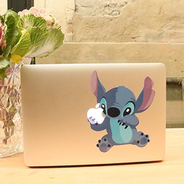 Diy Macbook Cover : Cute cartoon stitch hold fruit vinyl decal laptop skin